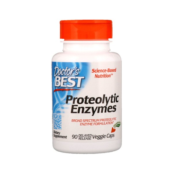 Doctor's Best Proteolytic Enzymes Delayed Release 90 Capsules