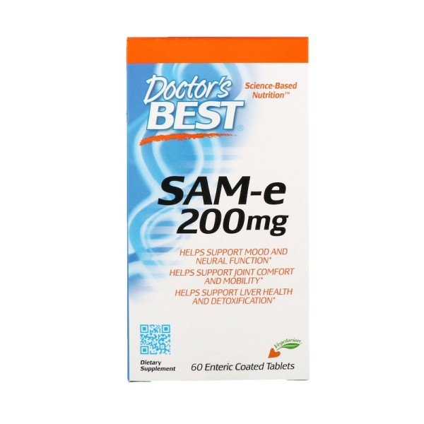 Doctor's Best SAM-e 200mg 60 Tablets