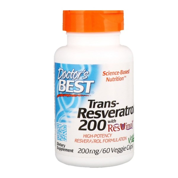Doctor's Best Trans-Resveratrol with Resvinol 200mg 60 Capsules