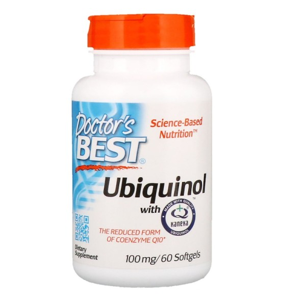 Doctor's Best Ubiquinol with Kaneka's QH 100mg 60 Softgels