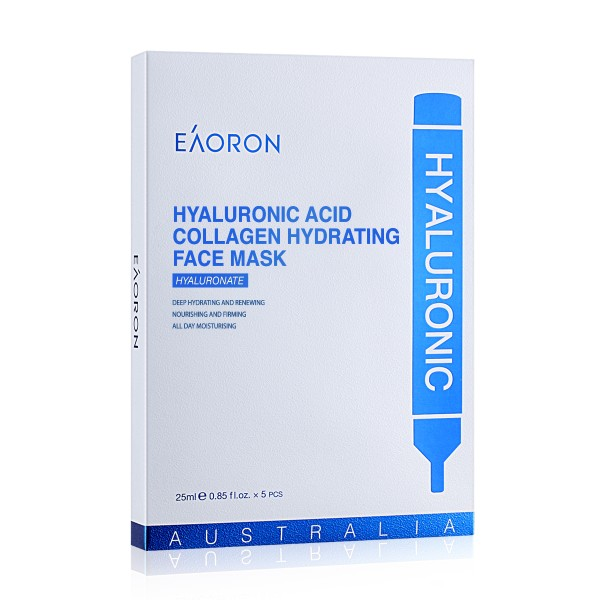 Eaoron Hyaluronic Acid Collagen Hydrating Face Mask 5 Pieces
