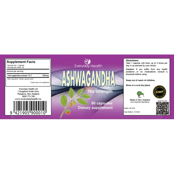 Everyday Health Ashwagandha Extra Strength 90 Capsules