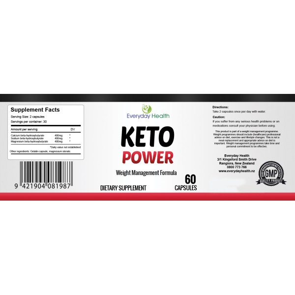 Everyday Health Keto Power Weight Management Formula 60 Capsules