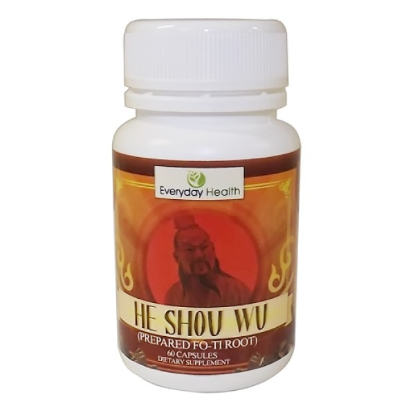 Everyday Health Prepared Fo-Ti Root He Shou Wu 60 Capsules