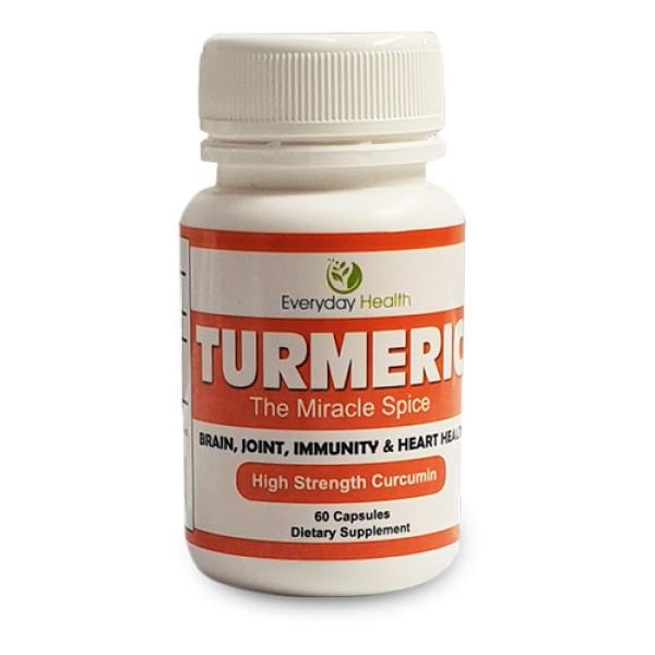 Everyday Health Turmeric High Strength Curcumin 60 Capsules