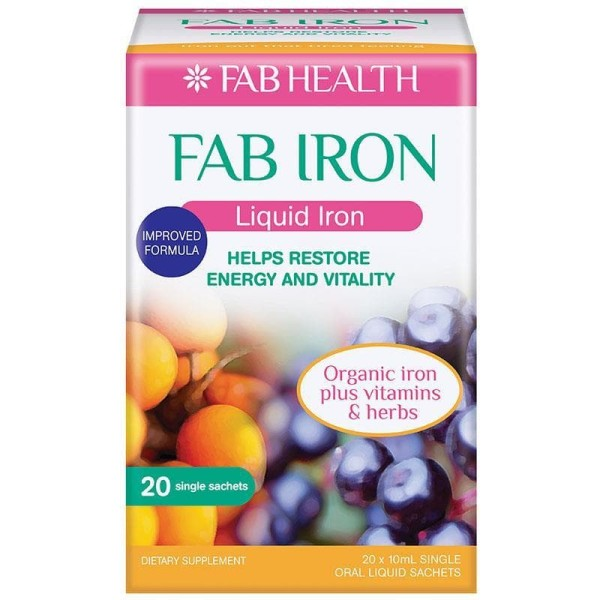 Fab Iron Liquid Iron 20x10ml Sachets