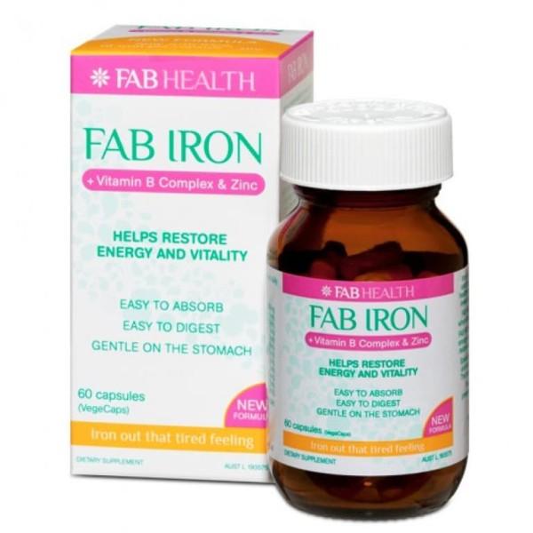 Fab Iron B Complex & Zinc 60 Capsules