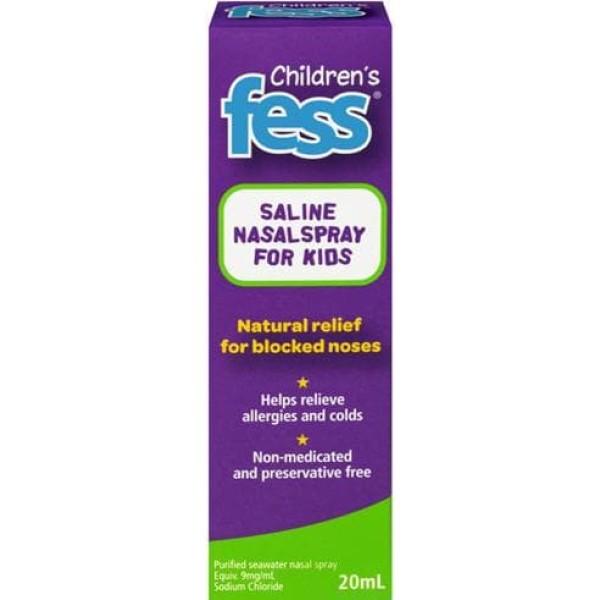 Fess Childrens Nasal Saline Spray 20ml
