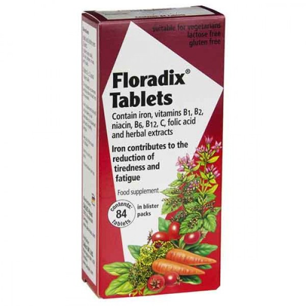 Floradix Iron & Vitamins 84 Tablets