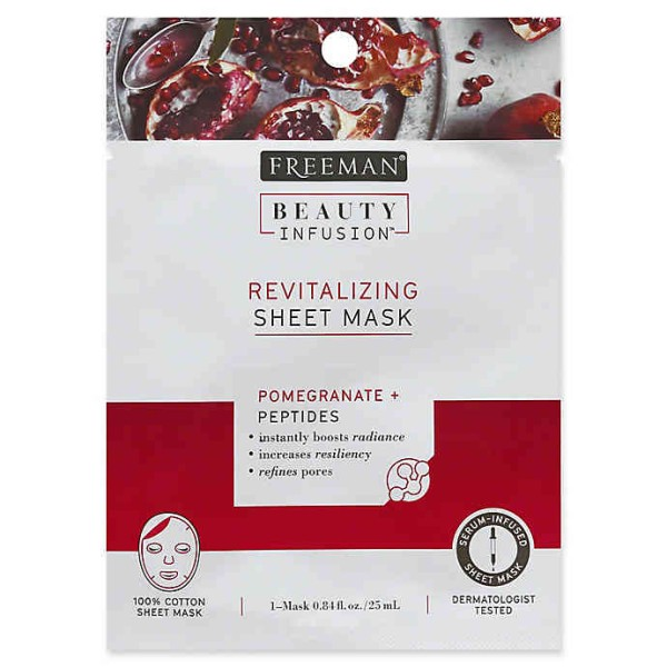 Freeman Beauty Infusion Pomegranate Peel-Off Sheet Mask