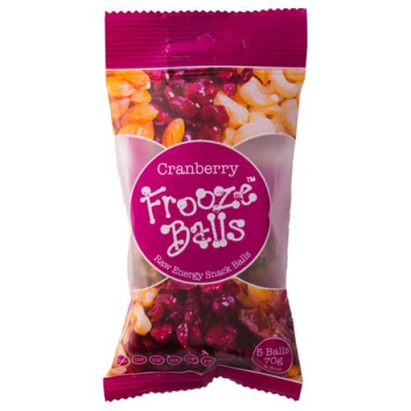 Frooze Balls Snack Bar 70g Cranberry Flavour