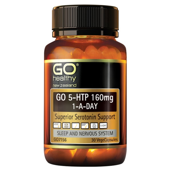 GO Healthy GO 5HTP 160mg 1-A-Day 30 Capsules