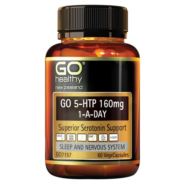 GO Healthy GO 5HTP 160mg 1-A-Day 60 Capsules