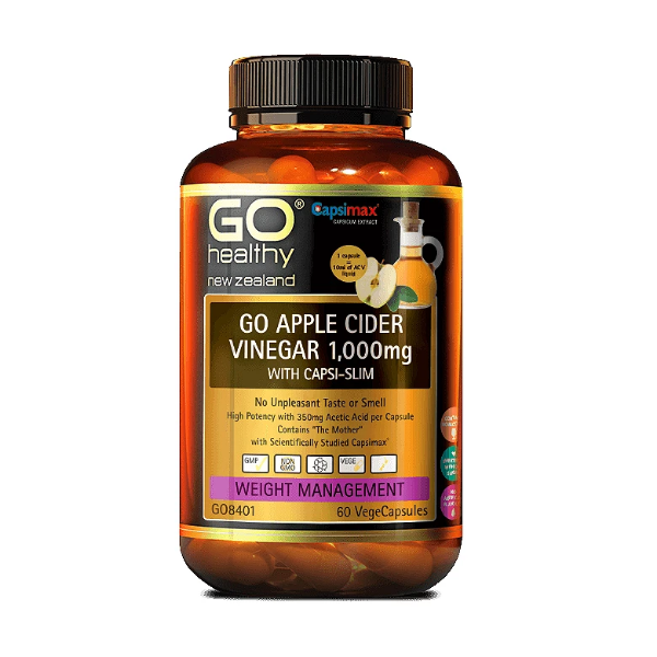 GO Apple Cider Vinegar 1000mg with Capsi-Slim