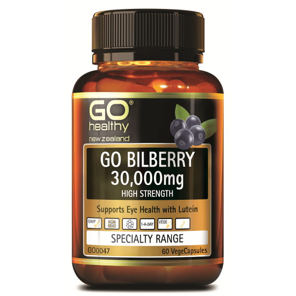 GO Healthy GO Bilberry 30,000mg 60 Capsules