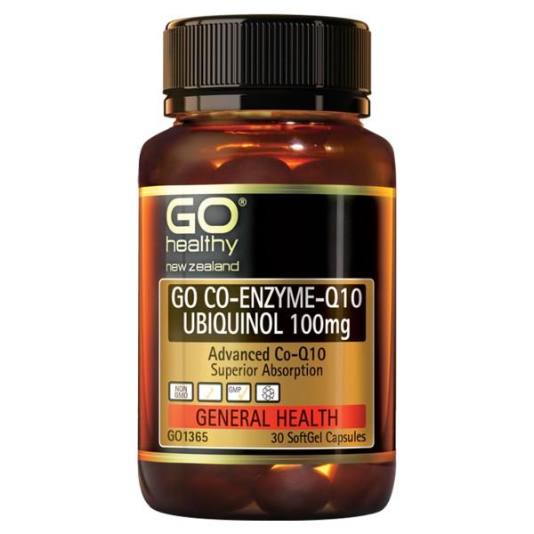GO Healthy GO CoQ10 Ubiquinol 100mg 30 Capsules