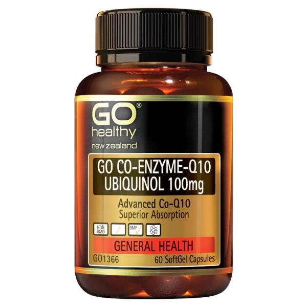 GO Healthy GO CoQ10 Ubiquinol 100mg 60 Capsules