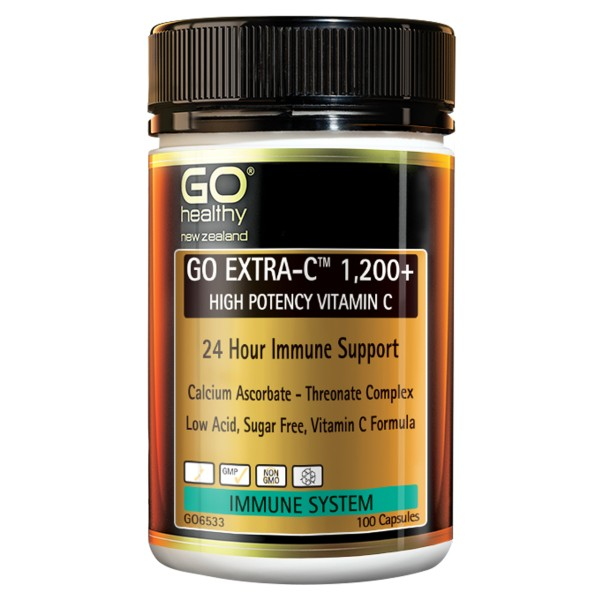 GO Healthy GO Extra C 1200+ High Potency Vitamin C 100 Capsules