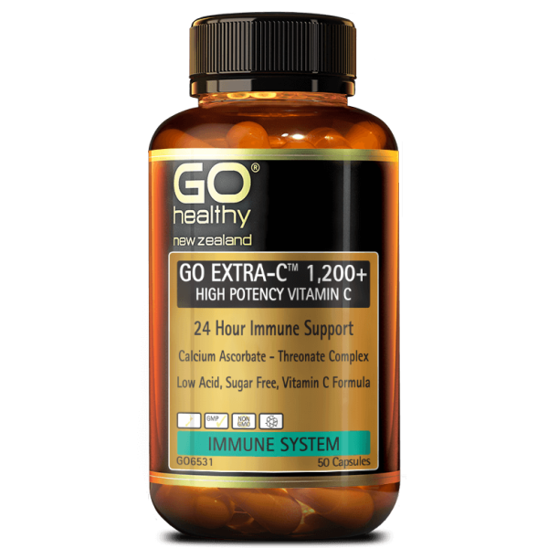 GO Healthy GO Extra C 1200+ High Potency Vitamin C 50 Capsules