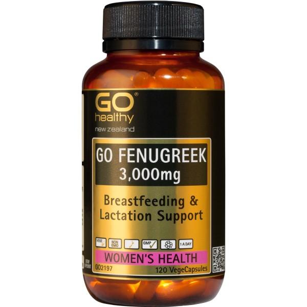 GO Healthy GO Fenugreek 3000mg 120 Capsules
