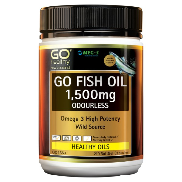 GO Healthy GO Fish Oil 1500mg Odourless 210 Capsules