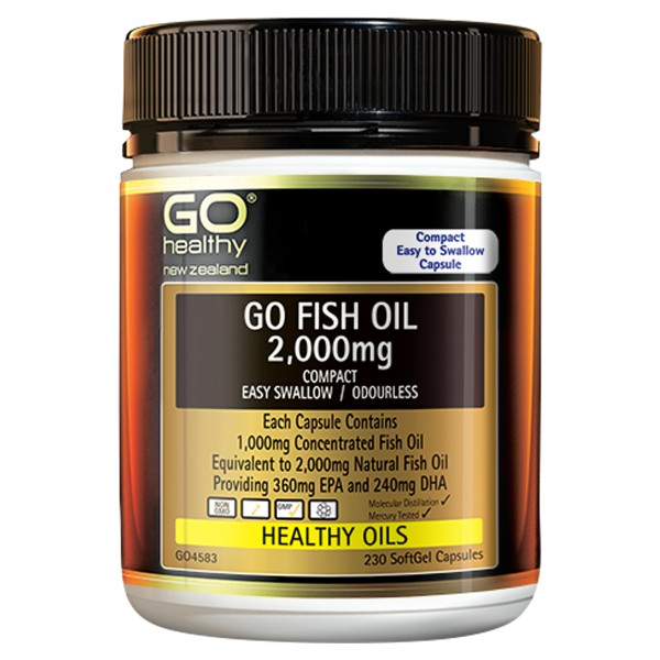 GO Healthy GO Fish Oil 2000mg Compact 230 Capsules