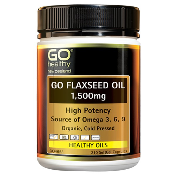 GO Healthy GO Flaxseed Oil 1,500mg 210 Capsules
