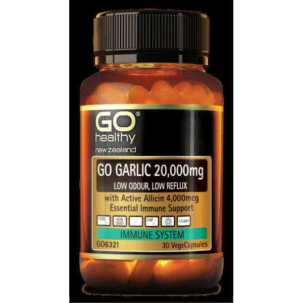 GO Healthy GO Garlic 20000mg 30 Capsules