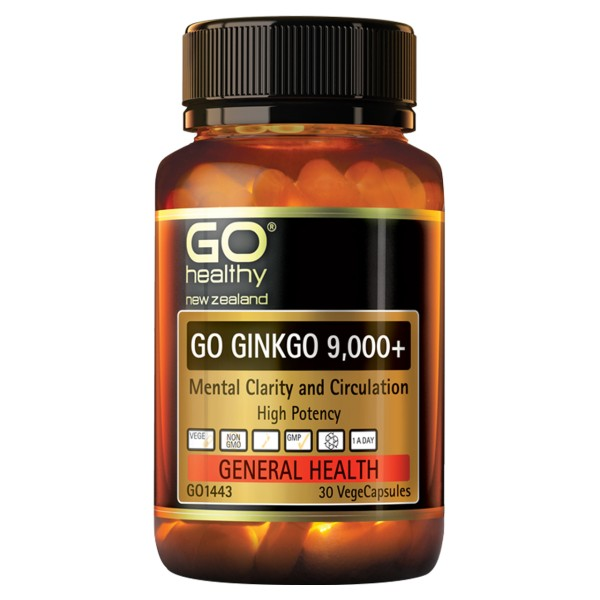 GO Healthy GO Ginkgo 9,000+ 30 Capsules