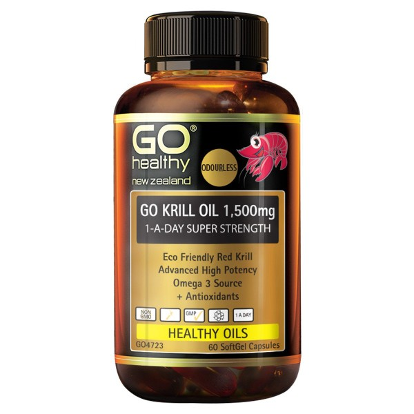 GO Healthy GO Krill Oil 1500mg 60 Capsules