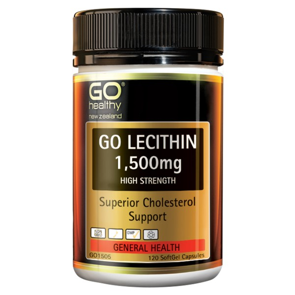 GO Healthy GO Lecithin 1500mg 120 Capsules