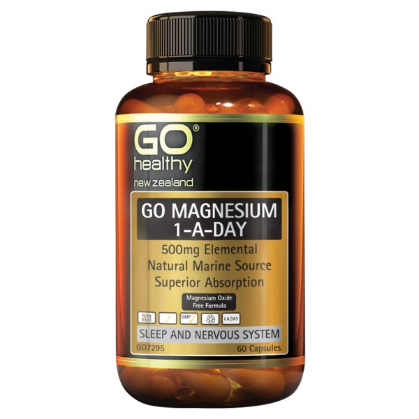 GO Healthy GO Magnesium 1-A-Day 500mg 60 Capsules