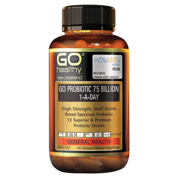 GO Healthy GO Probiotic 75 Billion 60 Capsules