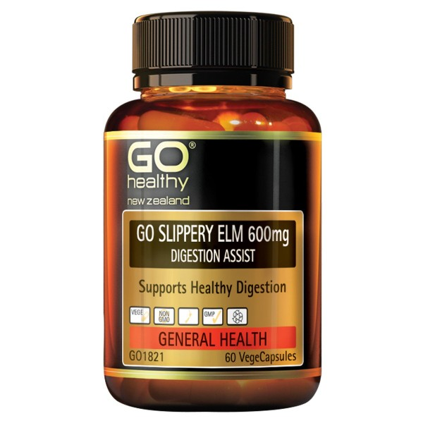 GO Healthy GO Slippery Elm 600mg 60 Capsules