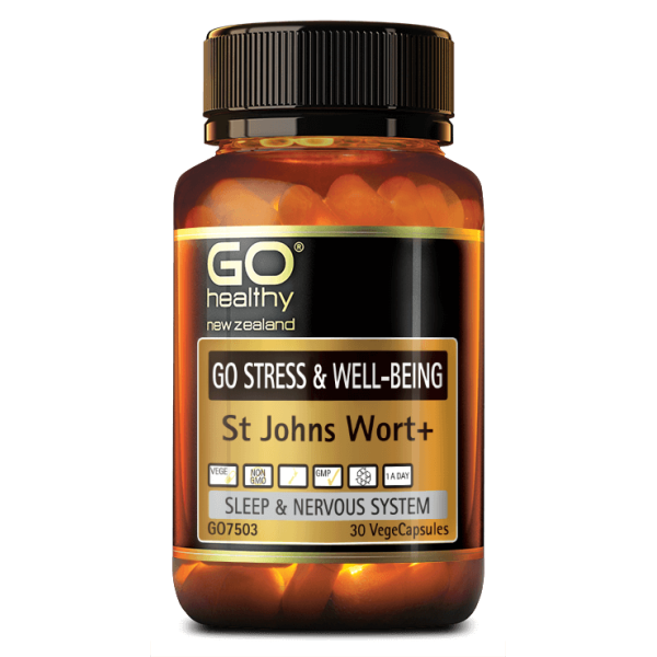 GO Healthy GO Stress & Well Being St Johns Wort 30 Capsules