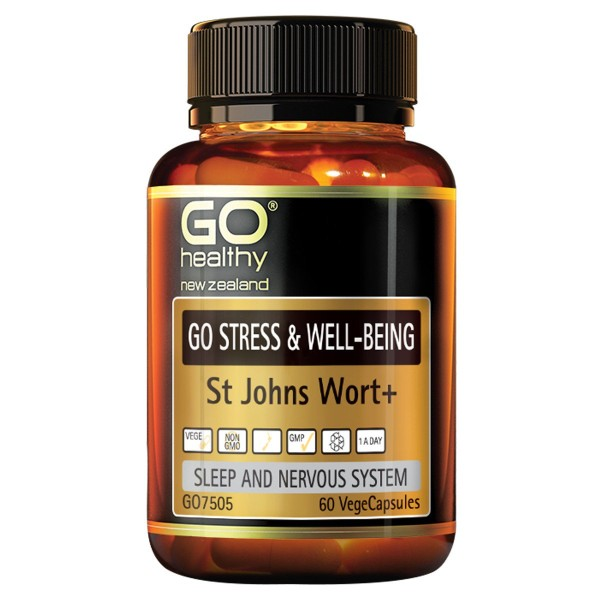 GO Healthy GO Stress & Well Being St Johns Wort 60 Capsules