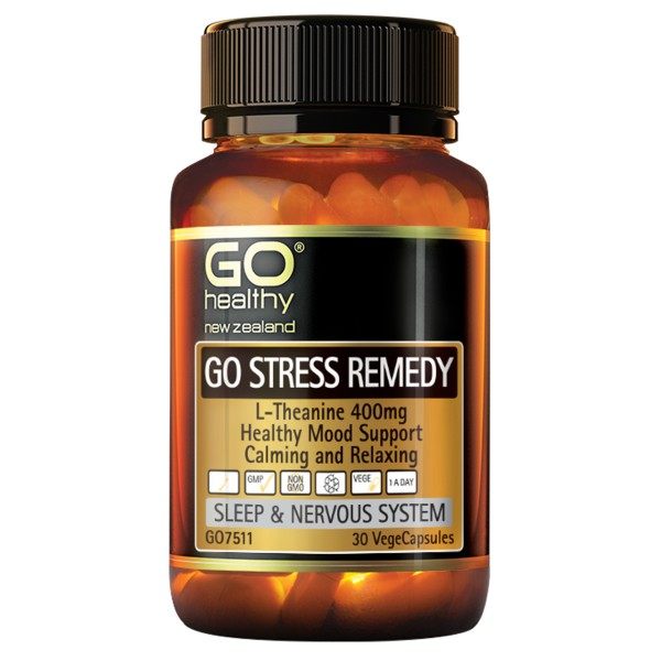 GO Healthy GO Stress Remedy L-Theanine 30 Capsules