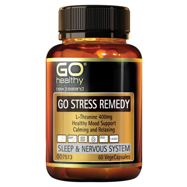 GO Healthy GO Stress Remedy L-Theanine 60 Capsules