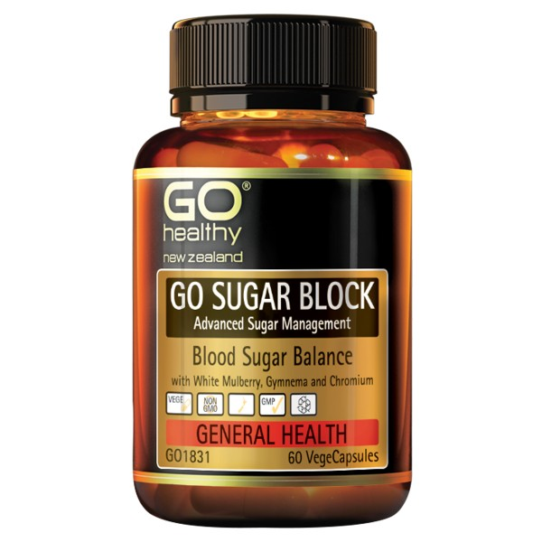 GO Healthy GO Sugar Block 60 Capsules