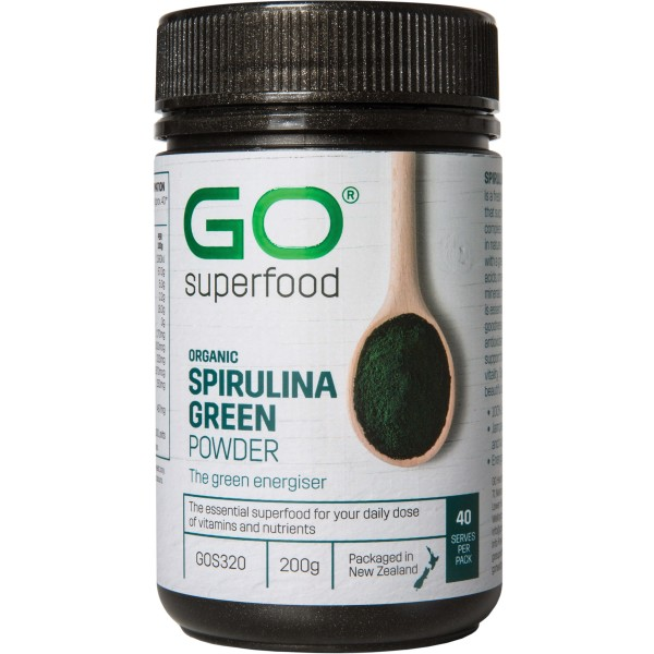 GO Healthy GO Superfood Organic Spirulina Green Powder 200g