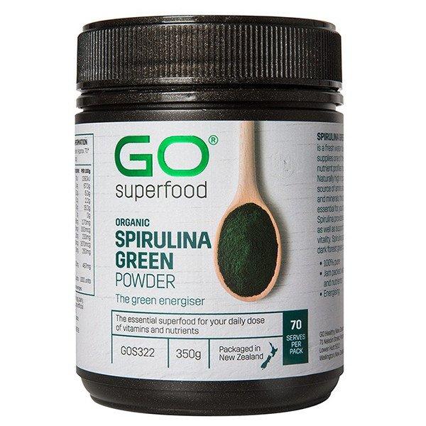 GO Healthy GO Superfood Organic Spirulina Green Powder 350g