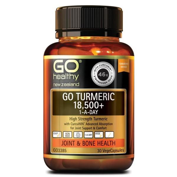 GO Healthy GO Turmeric 18500+ 1-A-Day 30 Capsules