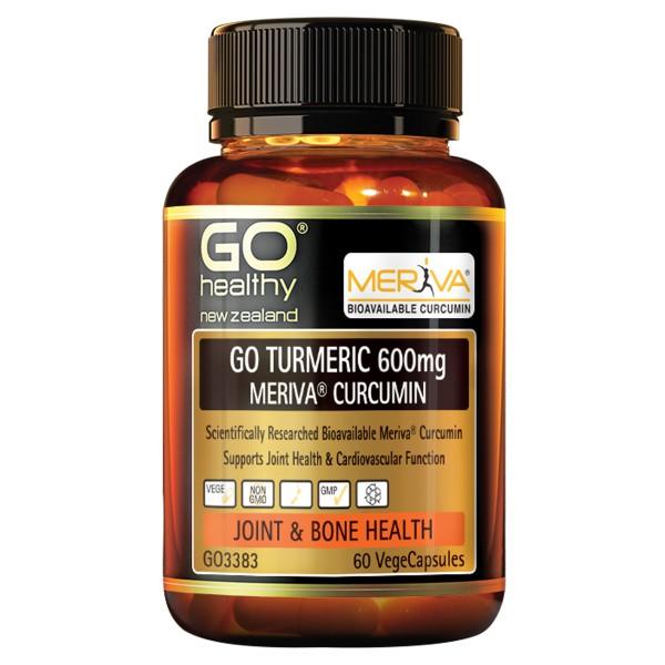GO Healthy GO Turmeric 600mg Meriva Curcumin 60 Capsules