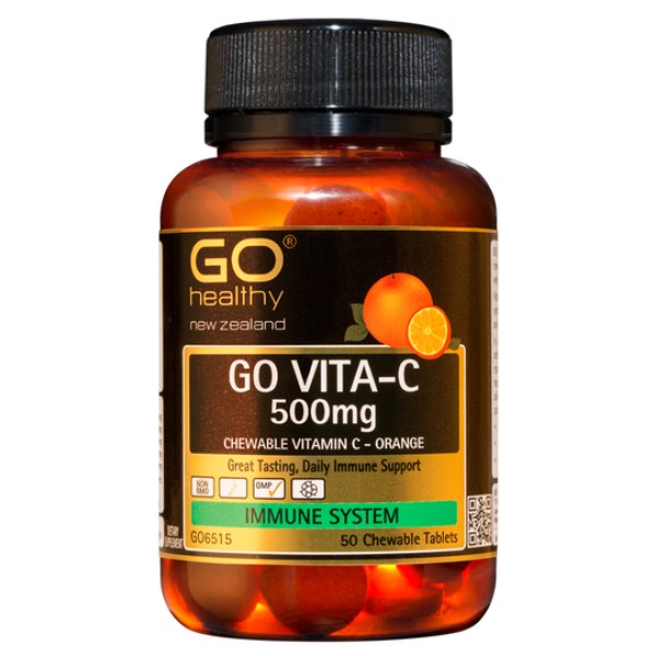 GO Healthy GO Vita C 500mg Orange Chewable 50 Tablets