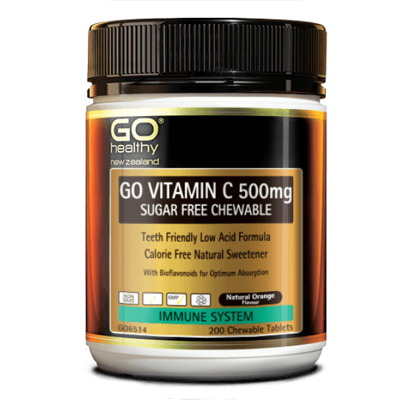GO Healthy GO Vitamin C 500mg Sugar Free Chewable 200 Tablets