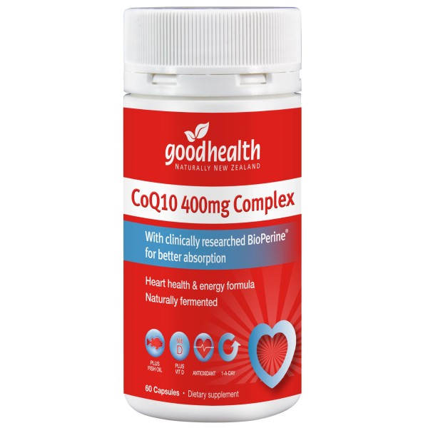 Good Health CoQ10 400mg Complex 60 Capsules