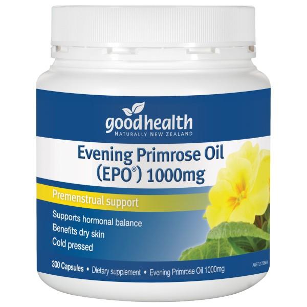 Good Health Evening Primrose Oil 1000mg EPO 300 Capsules