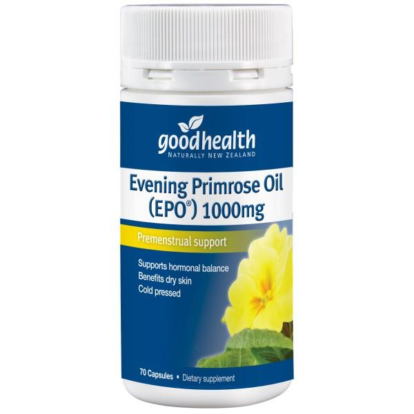 Good Health Evening Primrose Oil 1000mg EPO 70 Capsules