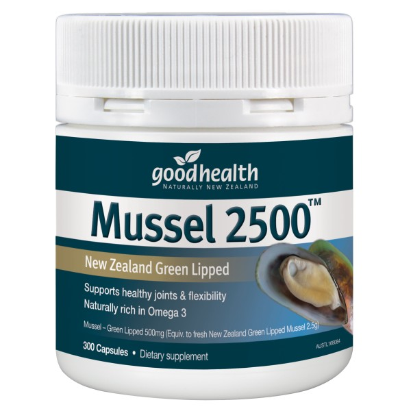 Good Health Mussel 2500mg 300 Capsules