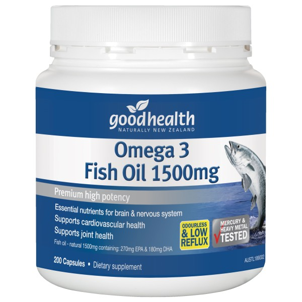 Good Health Omega 3 Fish Oil 1500mg 200 Capsules